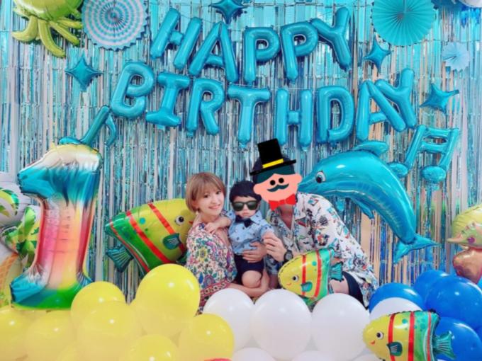 矢口真里、1歳を迎えた長男との家族SHOT公開&思いも綴る「健やかに強く優しい子に」