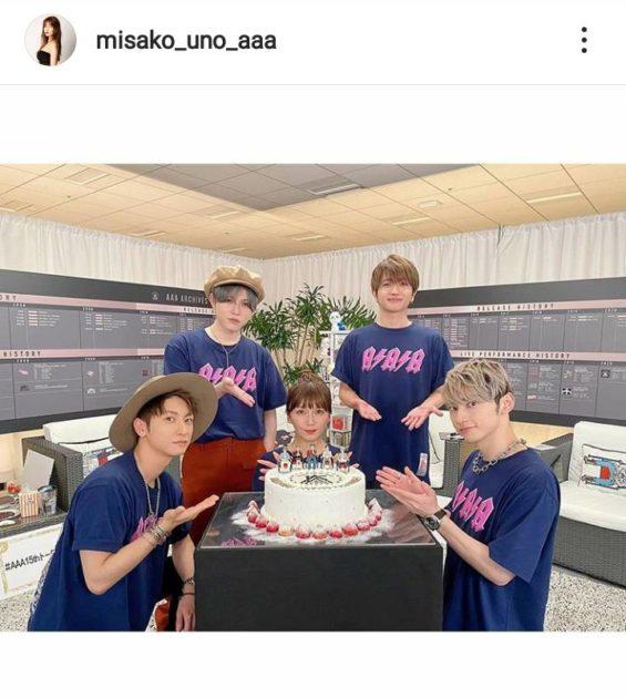 "AAA宇野実彩子、デビュー15周年の""メンバー集合SHOT""に「やっぱり5人は最強」「一生追いかけます」サムネイル画像"