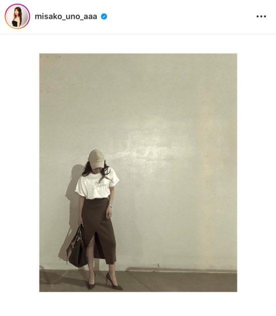 """「スタイル抜群!」AAA宇野実彩子、""""美脚チラリ""""なカジュアル大人コーデ公開し反響「足細いなあ」サムネイル画像"""