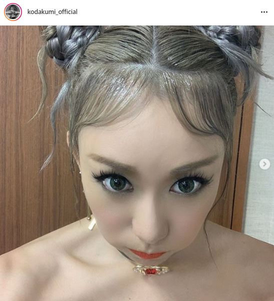 倖田來未、ツインお団子ヘアの目ヂカラSHOT公開に「セーラームーンみたい」「可愛さパワーアップ」