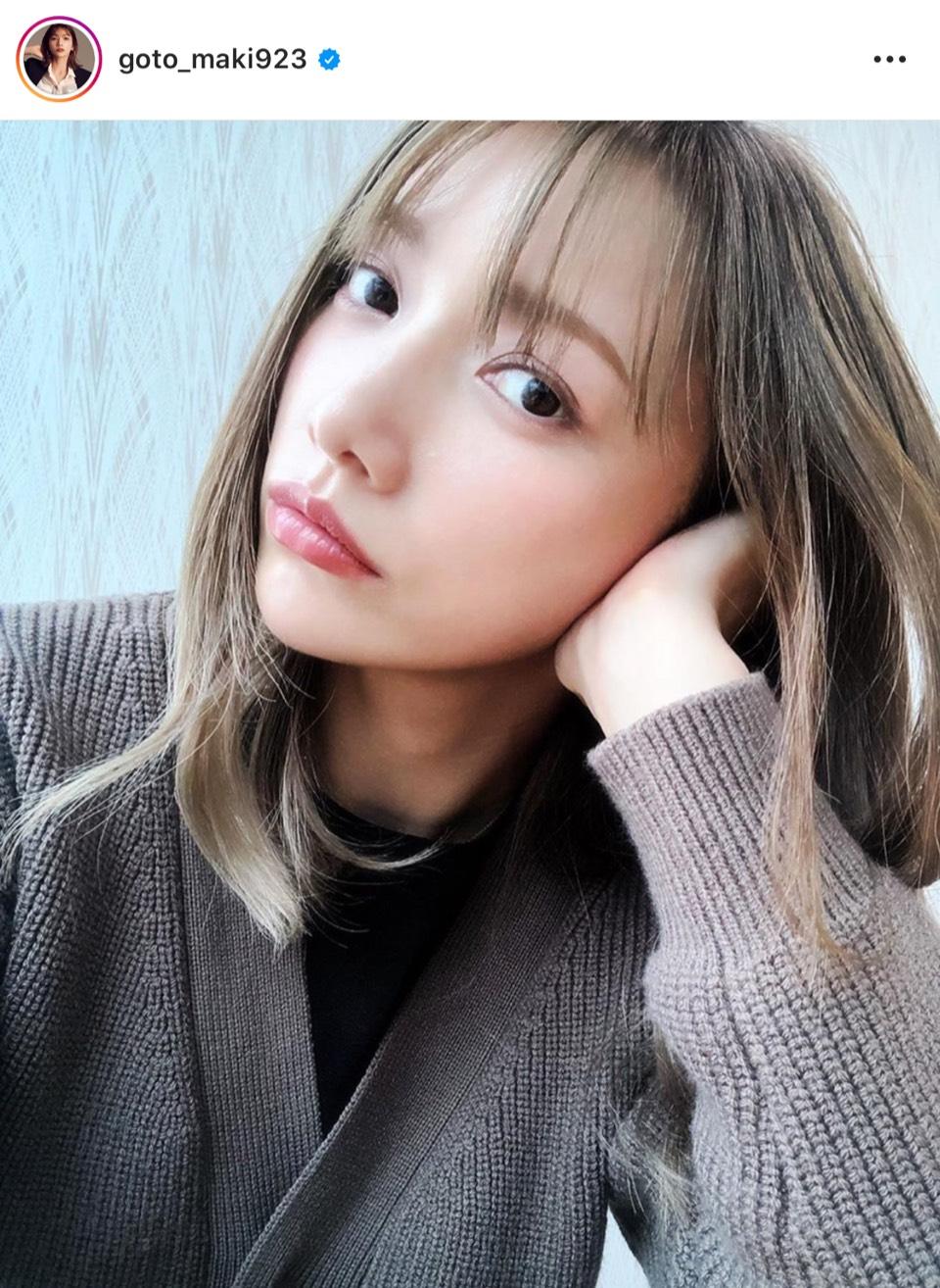 後藤真希、秋色コーデ&コーラルリップの自撮りSHOT公開し反響「鬼可愛い」「来週で35歳になるとは…」