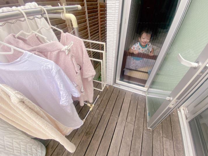 """辻希美、蟹にビックリな三男SHOT公開&""""日常生活""""に戻った朝の癒しを綴る「洗濯物を干していたら…」"""