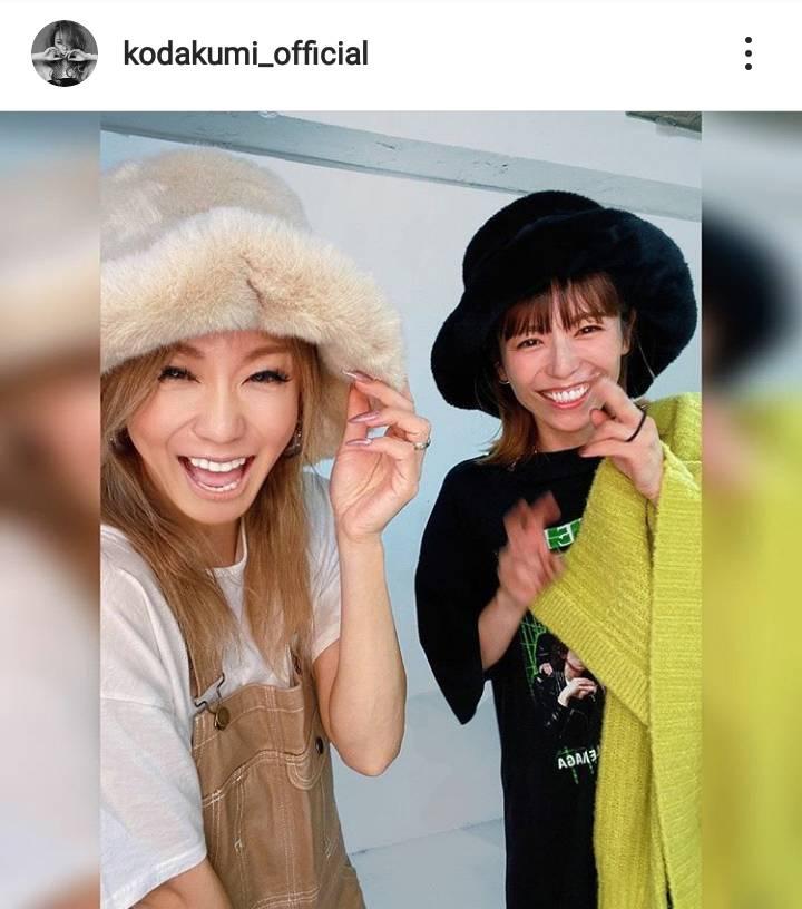 倖田來未、若槻千夏との笑顔SHOT公開&モコモコ帽子×サロペットコーデに反響「可愛すぎる」