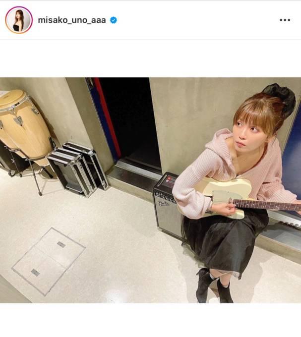 AAA宇野実彩子、ピンク×ブラックの甘辛コーデ披露にファン反響「可愛すぎる」「胸がドキドキする」