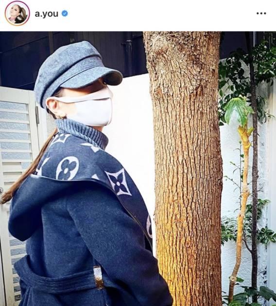 """浜崎あゆみ、""""winterマリン帽""""姿公開し「可愛いっ」「どんな服でも似合う」の声サムネイル画像"""