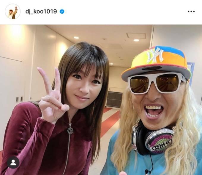DJ KOO、深田恭子とのピースSHOT公開し「女神だ!!」「深きょん可愛いすぎる」の声