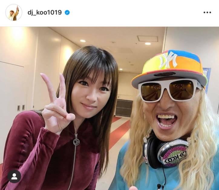 DJ KOO、深田恭子とのピースSHOT公開し「女神だ!!」「深きょん可愛いすぎる」の声サムネイル画像!