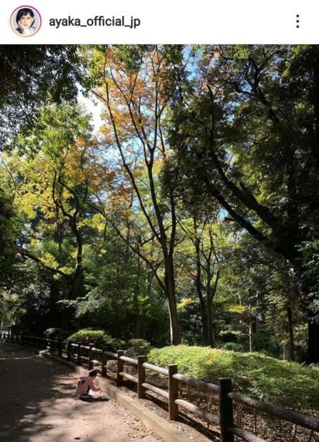 絢香、秋の自然を満喫&娘のどんぐり拾いに夢中な姿公開し「大きくなりましたね」の声