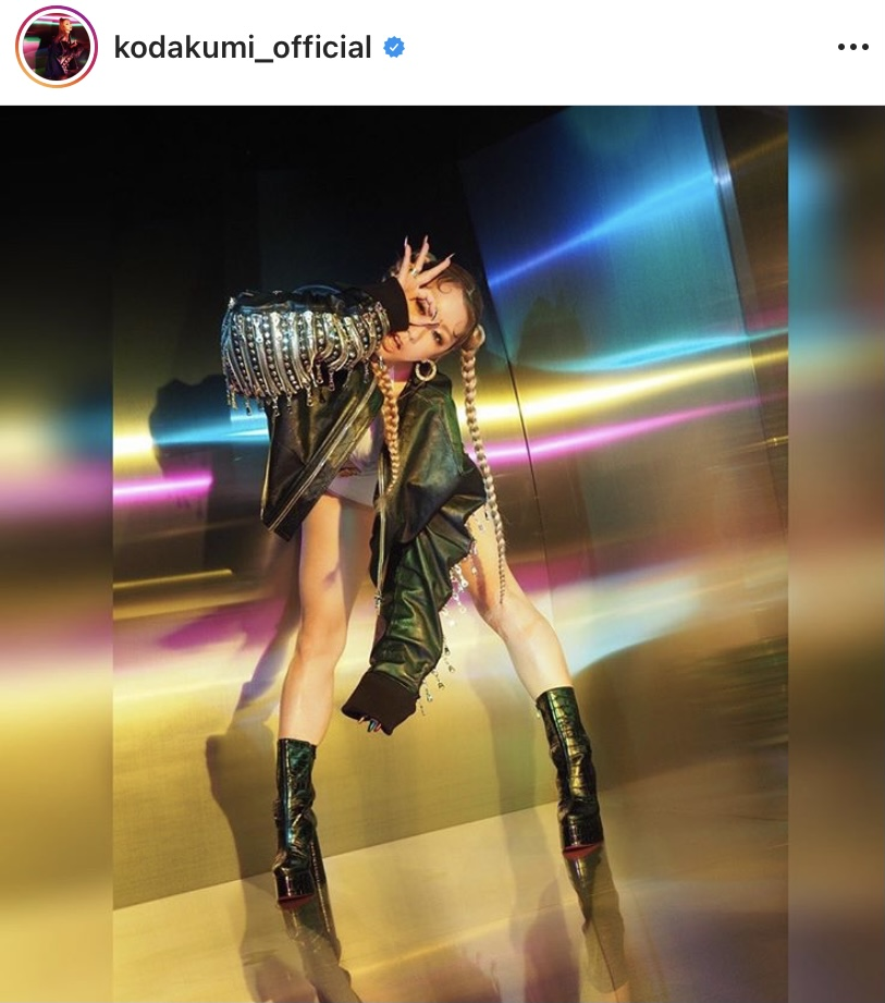 倖田來未、三つ編みヘア&美脚際立つブーツスタイル公開に反響「生脚綺麗過ぎ」「輝いてる」