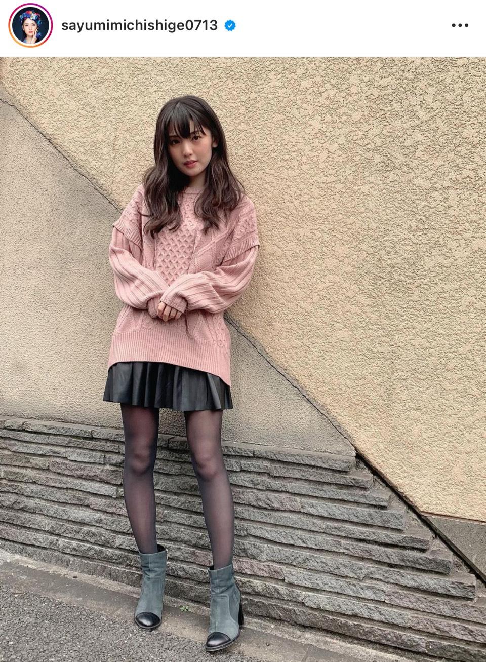 「超美脚!!」道重さゆみ、ミニスカコーデ公開し反響「スタイルいい」「キュート」