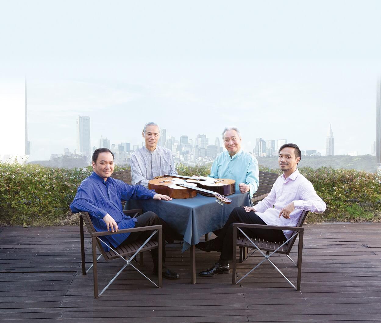 日本を代表する4人のギタリストの名手がDUOで奏でる6通りのアンサンブル