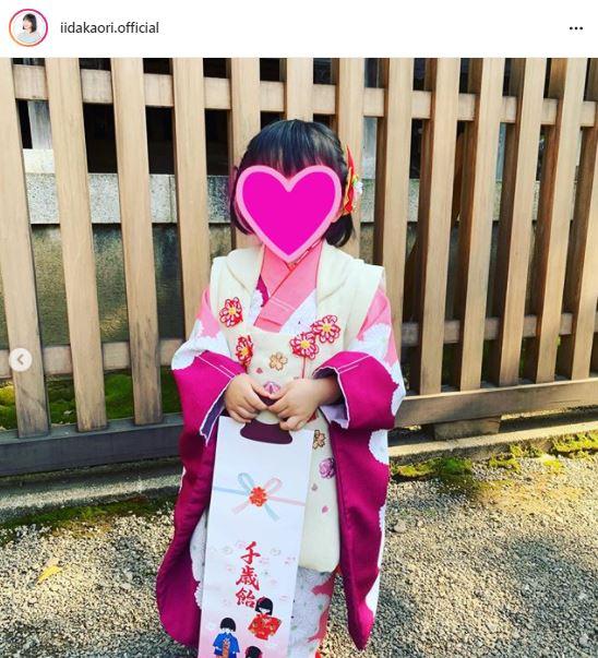 """飯田圭織、7歳息子&3歳娘の""""七五三SHOT""""を公開「家族4人よい思い出になりました」"""