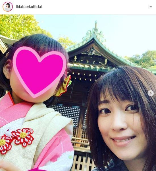 """飯田圭織、7歳息子&3歳娘の""""七五三SHOT""""を公開「家族4人よい思い出になりました」サムネイル画像"""
