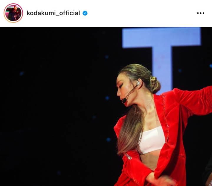 倖田來未、美ボディ際立つ赤スーツのステージSHOTにファン反響「セクシー美人」「腹筋も素敵」サムネイル画像