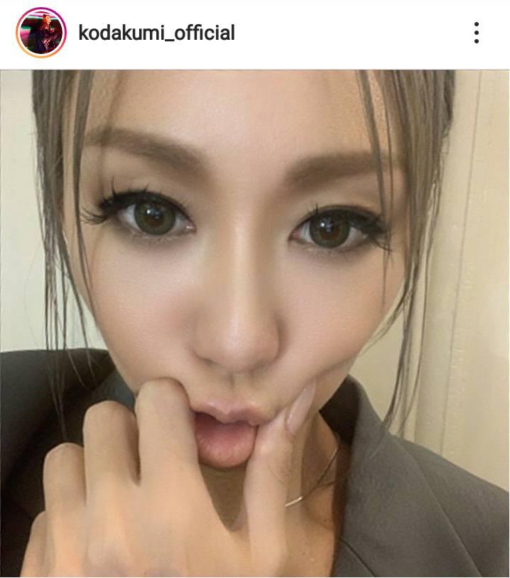 「顔ちっちゃい」倖田來未、カメラ目線のアップSHOTに反響「綺麗過ぎてうっとり」