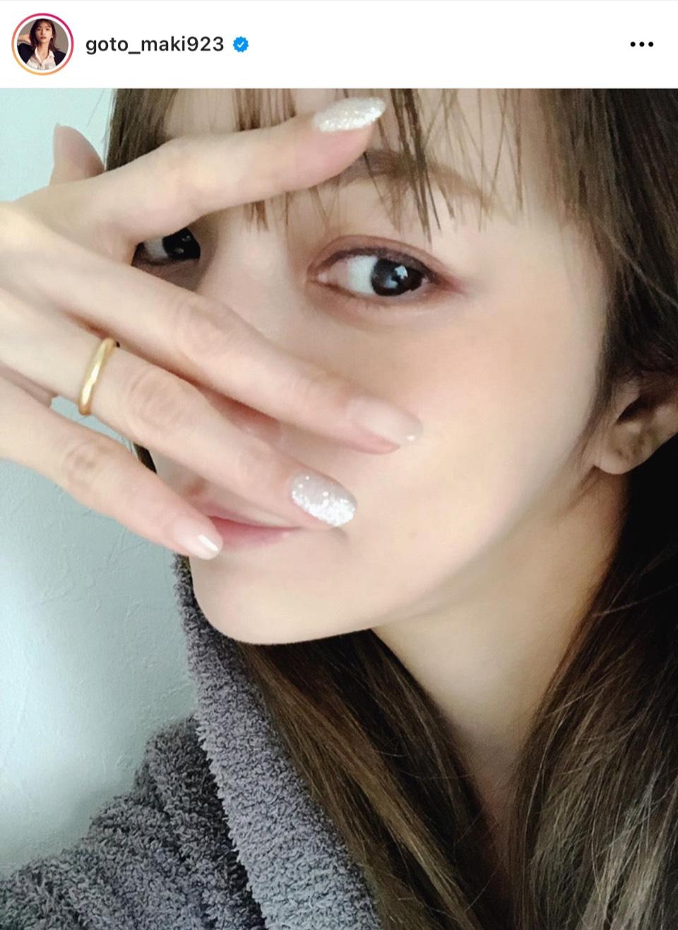 「今が1番可愛い」後藤真希、キラキラネイル見せSHOT公開し反響「目がおっきい」「天使」