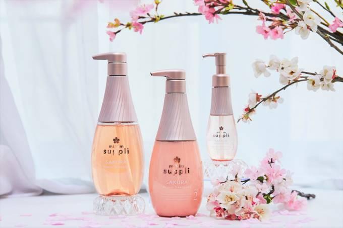 髪を補修するサプリメントヘアケアシリーズ「mixim suppli」より桜香る限定ヘアケアが新登場