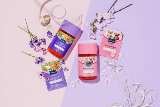 メッセージとともに春を贈ろう!クナイプ メッセージバスソルト シリーズ サクラの香り/ スミレの香り登場