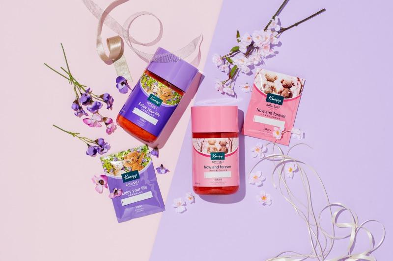 メッセージとともに春を贈ろう!クナイプ メッセージバスソルト シリーズ サクラの香り/ スミレの香り登場サムネイル画像