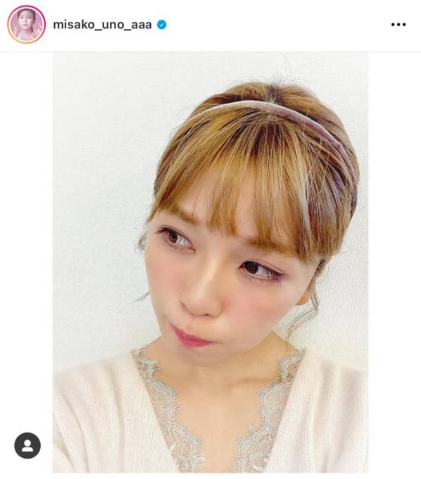 "AAA宇野実彩子、青みピンク系の""セルフメイク""披露に反響「まつ毛長い」「全部真似したい」"
