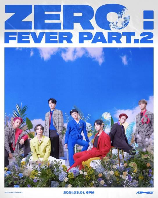 ATEEZ、韓国で3月1日発売の新アルバム「ZERO:FEVER Part.2」正規日本輸入盤の最速予約開始&オンラインリリースイベントの開催も決定