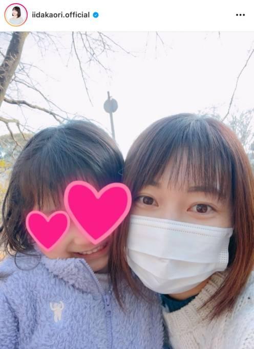 「美人ママ」飯田圭織、娘との笑顔の顔寄せ2SHOTに反響「素敵な写真」