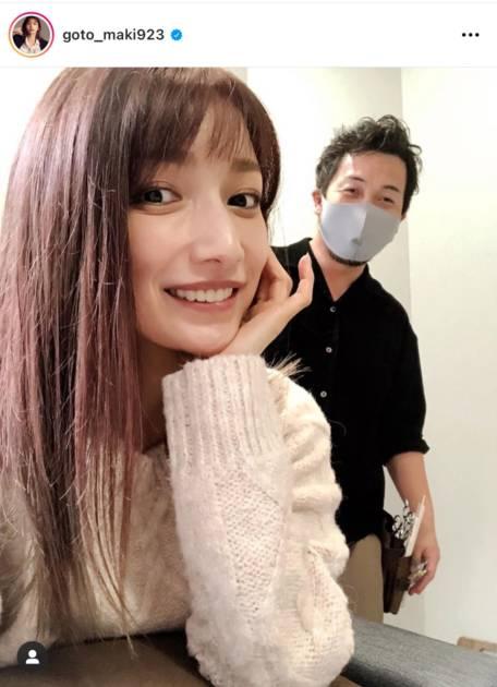 """後藤真希、""""ピンク×グリーン""""なNEWヘアカラーに反響「綺麗な色」「真似したい!」サムネイル画像"""