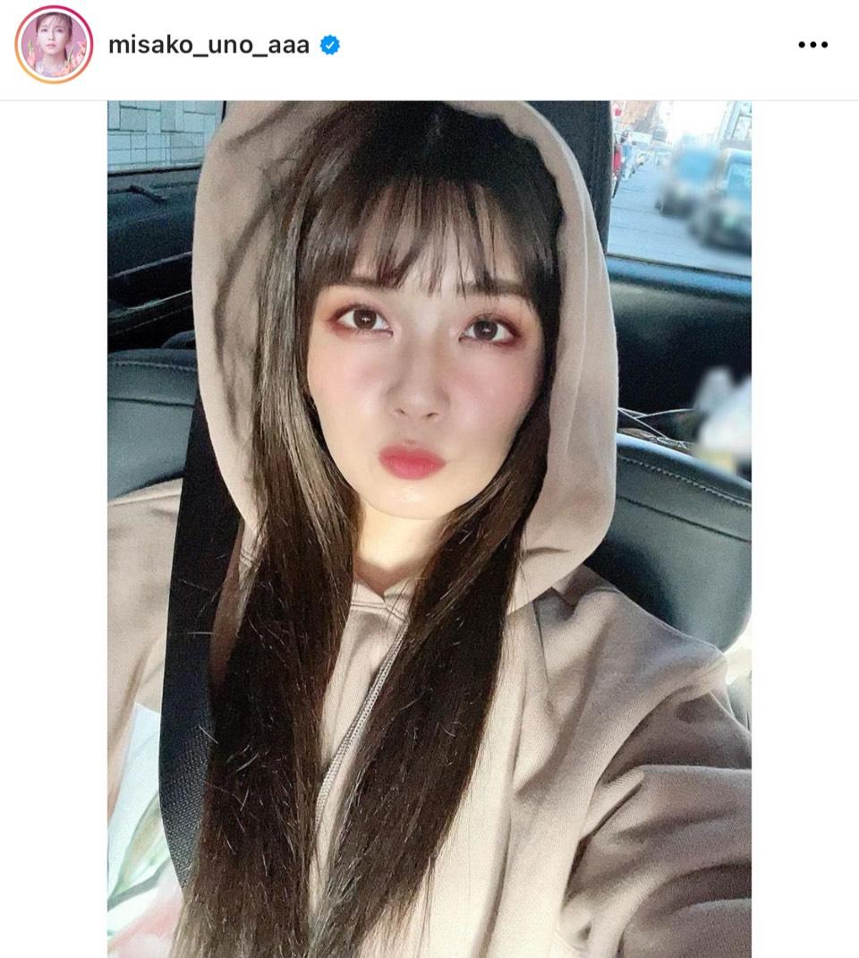 「ほんとに30代?」AAA宇野実彩子、暗髪×濃いめメイクの自撮りSHOTに反響「可愛すぎる」