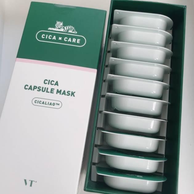VT cosmetics/CICAカプセルマスク (10個入り) 税込2,980円(公式サイトより)