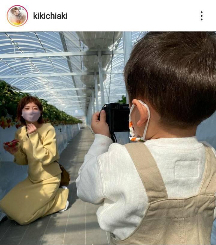 """伊藤千晃、""""一眼レフを使いこなす""""3歳息子の写真の腕前に驚きの声「脱帽です」「ナイスカメラマン」"""