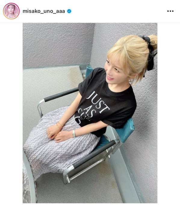 AAA宇野実彩子、金髪ポニテの私服SHOTに反響「天才的に可愛い」「お姫様」