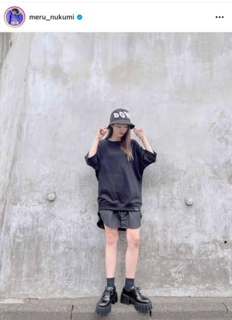 「スタイル良すぎ」めるる、生足披露のブラックコーデに反響「足長っ!」サムネイル画像!