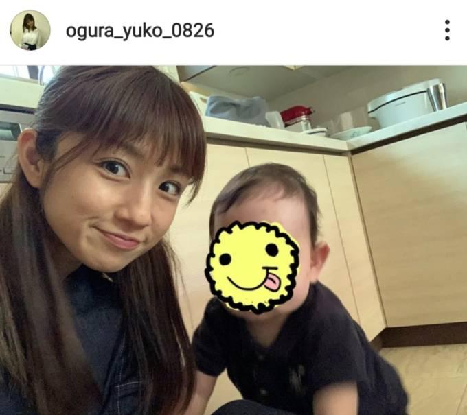 小倉優子、三男の10ヶ月健診を報告「スクスク育ってくれて…」