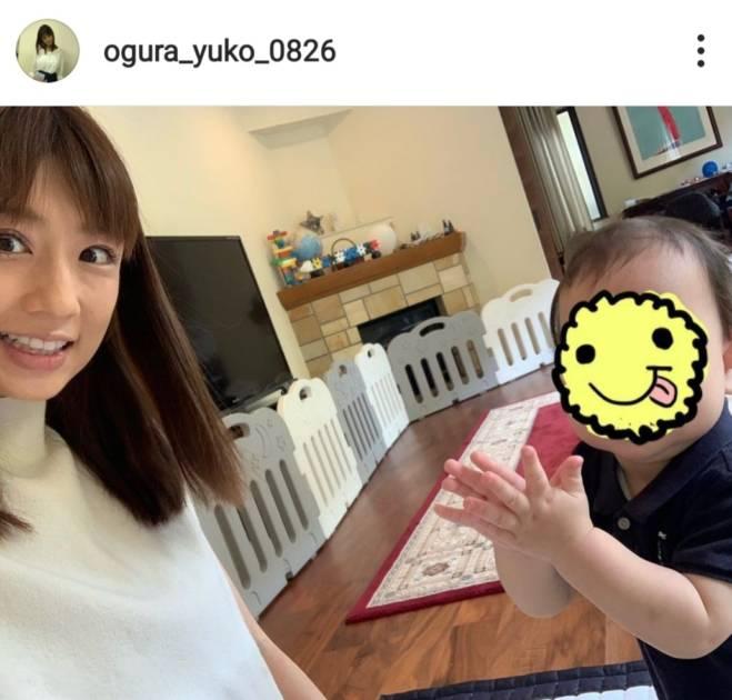 小倉優子、立った三男との笑顔SHOT&息子たちのキッチンSHOT公開「キュン」「可愛いお手て」サムネイル画像!