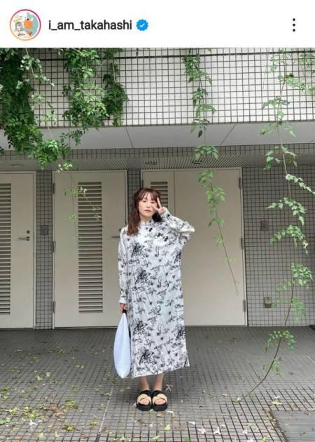 「髪伸びましたね!」高橋愛、夫・あべこうじ撮影の真顔ピースSHOTに反響「全部かわいい」サムネイル画像!
