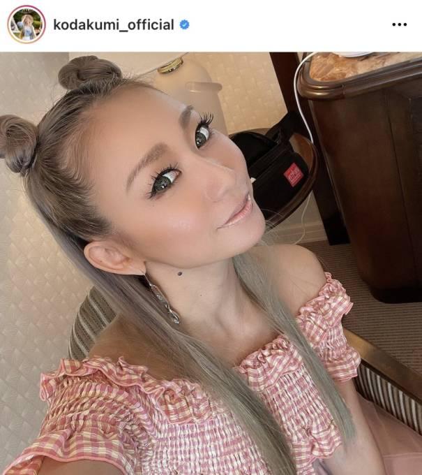 倖田來未、美肩チラリなオールピンクSHOTに反響「天使」「美しすぎます!!」