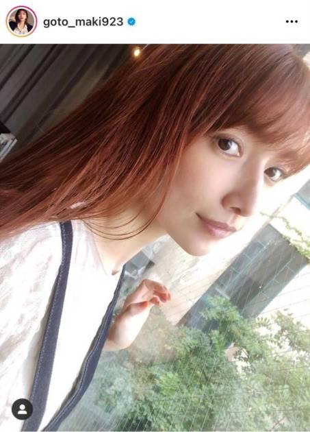 後藤真希、オレンジのNEWヘアカラーお披露目SHOTに「めっちゃお似合い」「同じ髪色にする」の声サムネイル画像!
