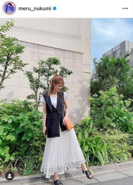 めるる、ポニテ×透け感スカート姿に絶賛の声「涼しげで可愛い」「今日も安定に美人さん」サムネイル画像!