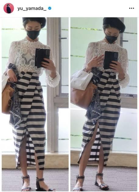 「スタイル抜群」山田優、透けトップス×美脚チラリなスリットスカートSHOT公開「かっこよすぎ」サムネイル画像!