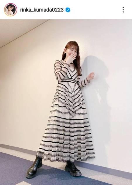 「天使みたい」久間田琳加、笑顔がはじける衣装SHOTにファン胸キュン「りんくまスマイル最高」サムネイル画像!
