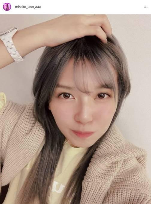 AAA宇野実彩子、秋を感じるNEWヘアカラーに絶賛の声「可愛いが止まらない」「暗髪しか勝たん」