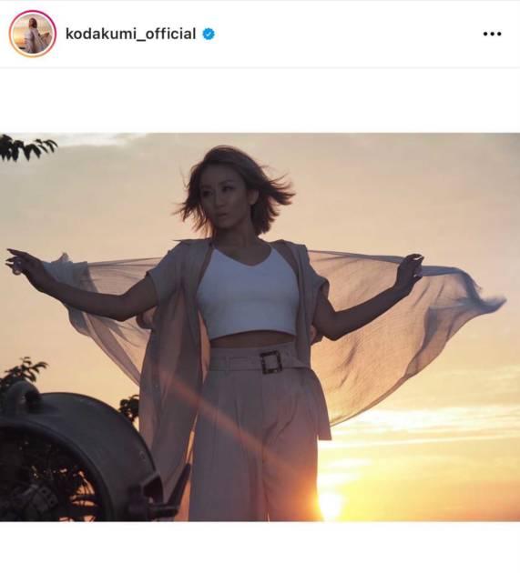 「女神降臨」倖田來未、夕焼けをバックにした美麗SHOTに絶賛の声「美しすぎる」サムネイル画像!