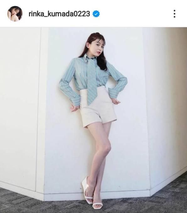 「最高の美脚」久間田琳加、ほっそり生足を見せた衣装SHOTにファン興奮「圧倒的だ」