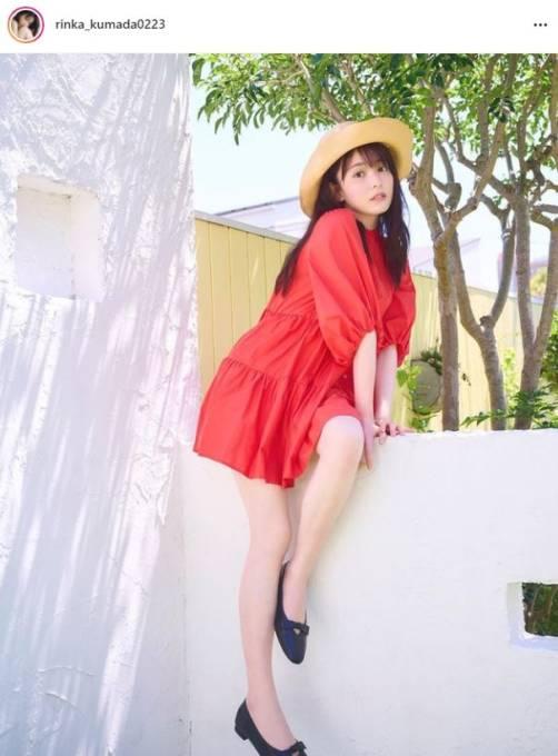 「圧倒的な可愛さ」久間田琳加、美脚際立つミニ丈ワンピSHOTに反響「脚が綺麗すぎて見惚れる」